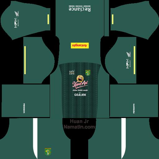 Logo Kit Dream League Soccer Persebaya 2019 2020 Namatin