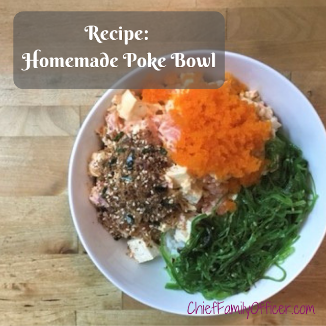 Homemade Poke Bowl with Salmon