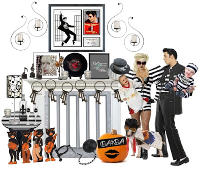 Elvis and Lady Gaga Ball and Chain Home Decor