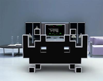 Diseño de sillón estilo video juego