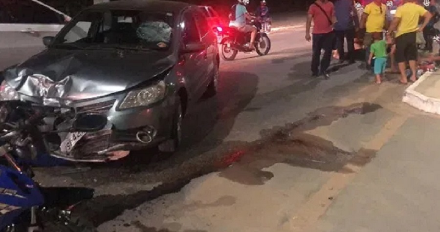 Casal sofre acidente de moto perto da Facape em Petrolina (PE) - Portal Spy