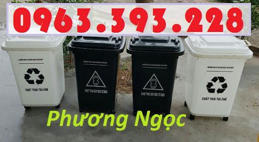Thùng rác 60L nhựa HDPE, thùng rác 60 Lít nắp kín, thùng rác đạp chân NK60L6
