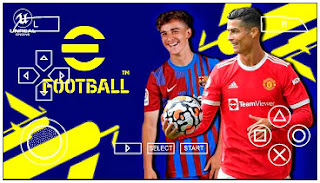 Download eFootball PES 2022 PPSSPP Update New Faces Best Graphics English Version & Latest Transfer