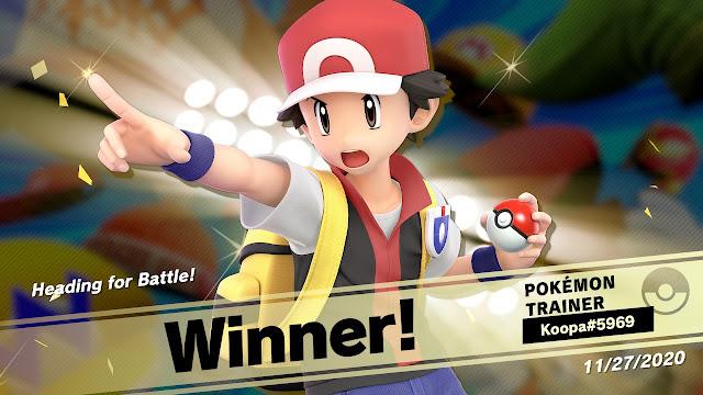 Pokémon Trainer winner champion Super Smash Bros. Ultimate event tourney mode Heading for Battle!