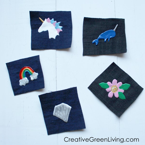 These patches are a fun project to do with kids using an old pair of jeans