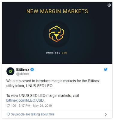 На Bitfinex стартовали маржинальные торги токеном LEO