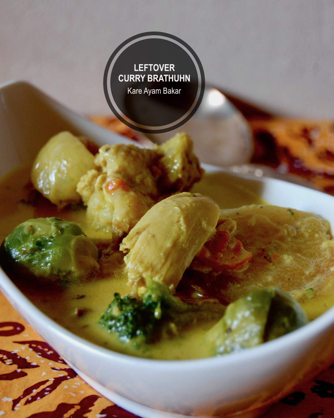 Leftover: Curry aus Übriggebliebenes Brathuhn