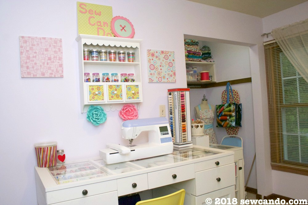 Sew Can Do My Small Space Dream Craft Room Tour 2018