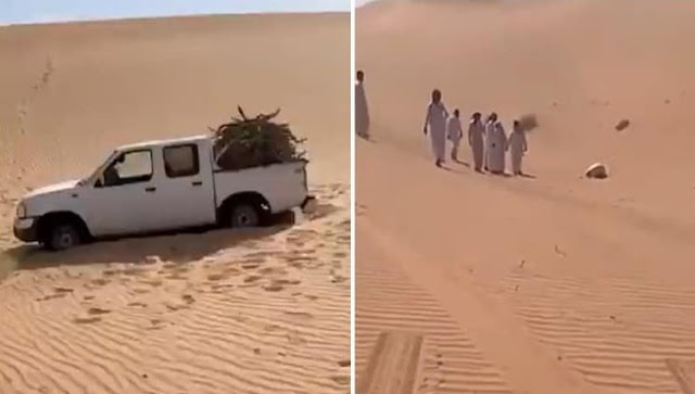 Video : Missing Saudi citizen found in the Middle of the Desert in 'Sujood' Position