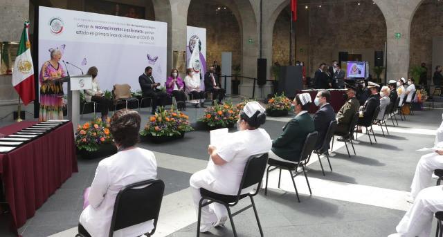 Innegable la importancia del personal médico en el combate de la pandemia por COVID-19: Olga Sánchez Cordero