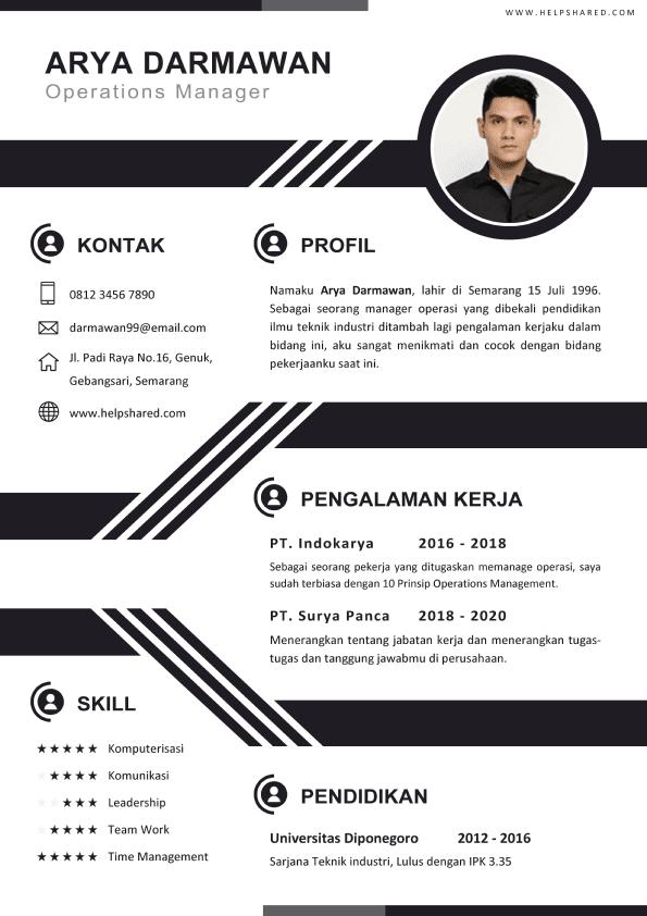 Contoh CV Lamaran Kerja Kreatif 02 Curriculum Vitae