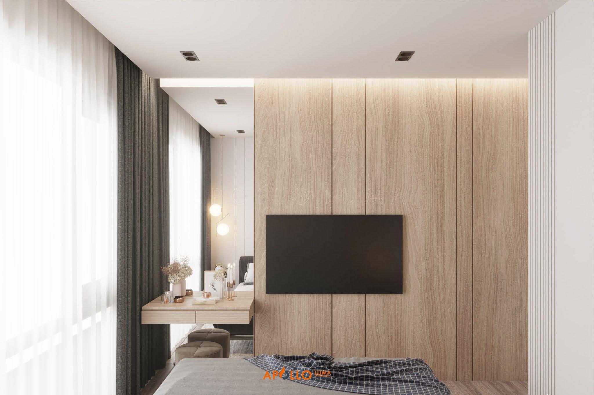 Thiết kế nội thất căn 3PN (75m2) S2.03-06 Vinhomes Smart City phong cách Minimalism