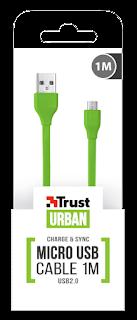 TRUST CAVO PIATTO MICRO USB 1 M 20138