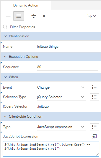 Grassroots Oracle: Client Side Dynamic Actions using jQuery Selectors
