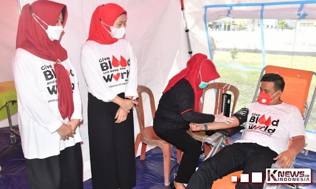 Di Hari Donor Darah, Ketua PMI Sinjai Ajak Relawan Donor Darah