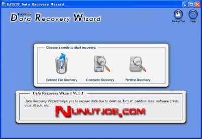 Recover Your Data using  EASEUS Data Recovery Wizard Professional 5.5.1