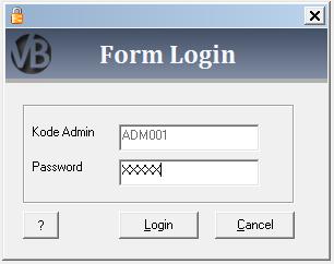 Membuat Form Login VB 6.0 - Visual Basic 6.0 - Belajar VB