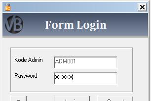 Tutorial Membuat Form Login Program Aplikasi Penjualan VB 6.0 - Part5