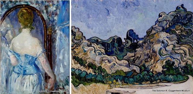 """Museu Guggenheim, Nova York - Manet: """"Diante do espelho"""", e Van Gogh, """"As Montanhas de Saint Rémy"""""""