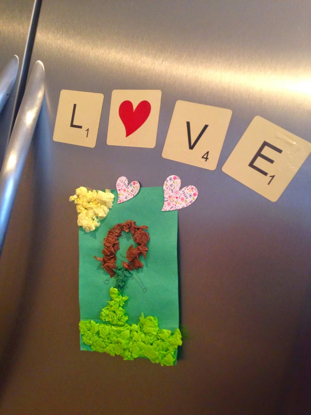 Silhouette, Silhouette project, valentine's day, project idea, scrabble, magnets