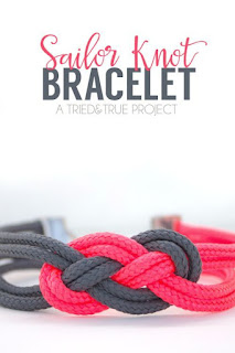 DIY Paracord Nautical Knot Bracelet Tutorial