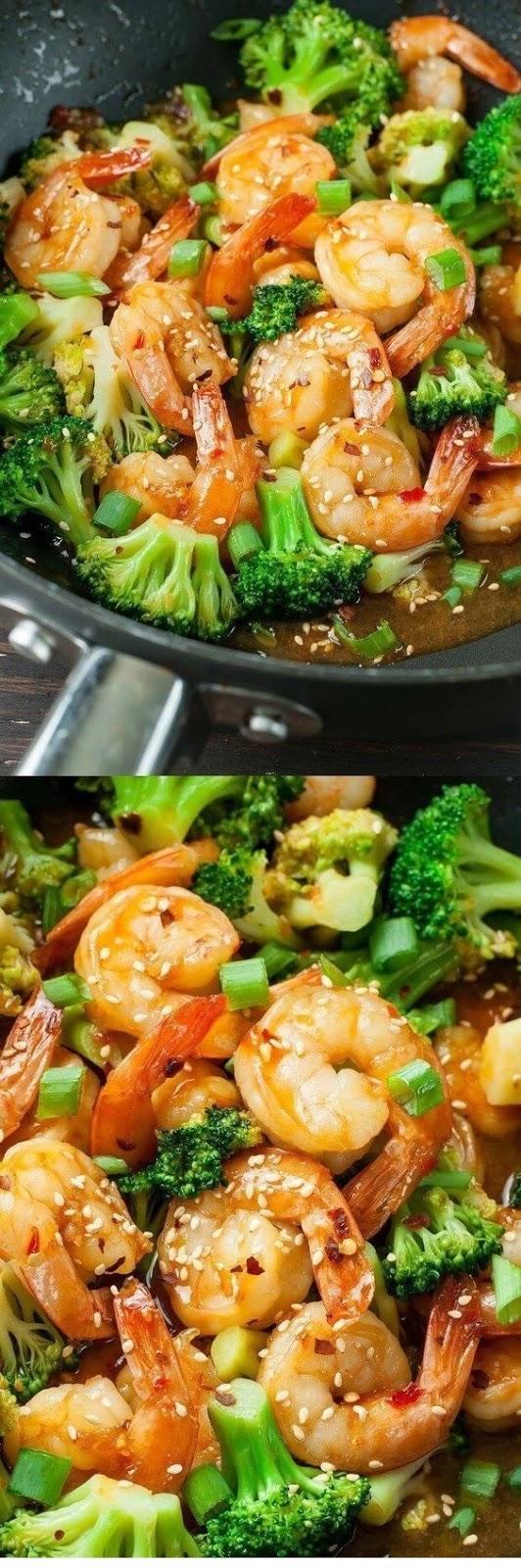 Szechuan Shrimp And Broccoli