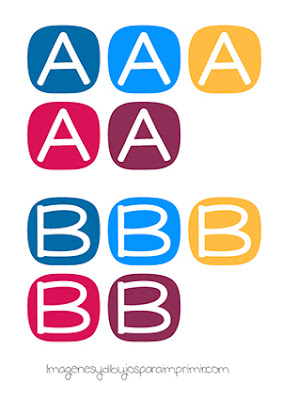 Letras infantiles mayúsculas para imprimir