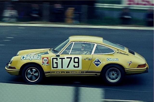1.000km Nürburgring 1970 Porsche 911S Racing Team AAW Dieter Fröhlich / Pauli Toivonen GT Class Winners