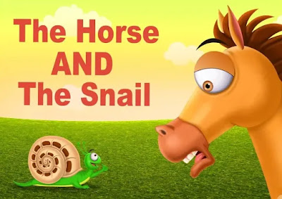 short story for kids in english | The Horse and The Snail