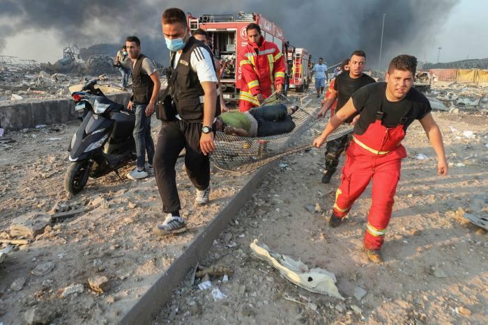انفجار ضخم يهز العاصمة اللبنانية بيروت