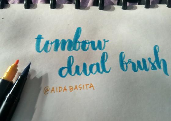 Kuas Tombow Dual Brush dan Hasil Handlettering