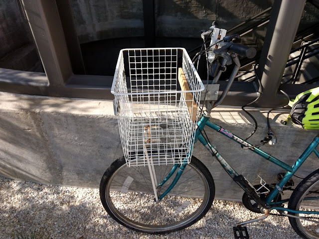 bicycle basket and wheel repaired