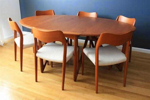 meja makan kayu jati
