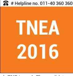 TNEA 2016 Tamilnadu Engineering Admissions BE BTech