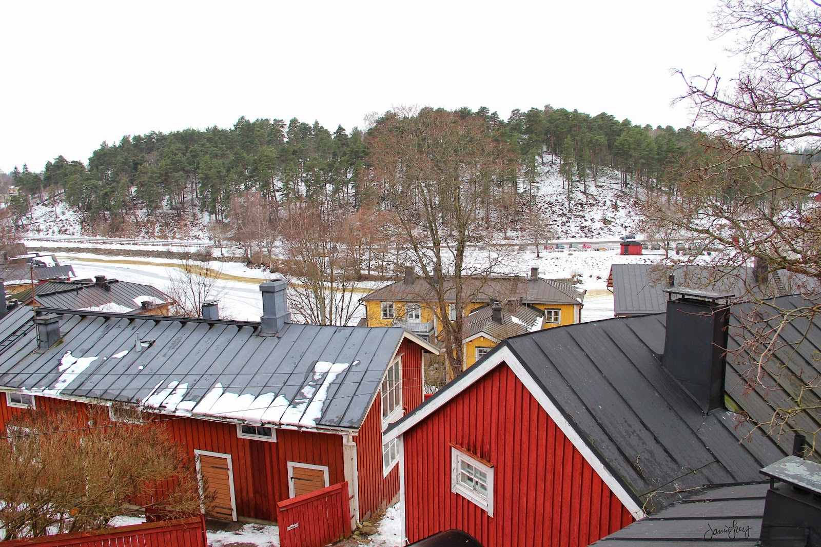 Red Houses in Porvoo, Finland