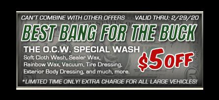 auto wash discount