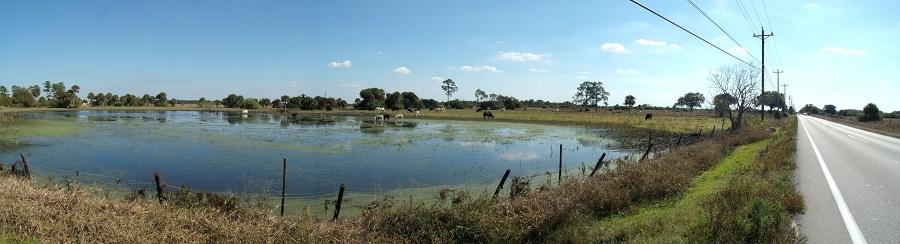 La Florida más rural y el arcén para transitar en bicicleta