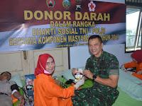 Peduli Sesama, Sinergitas TNI-Polri dan Komponen Masyarakat Banyumas Donorkan Darah