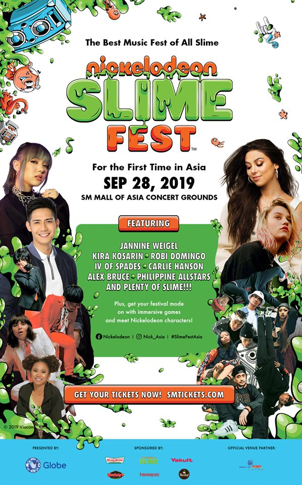 Nickelodeon Slimefest happening on Sep 28
