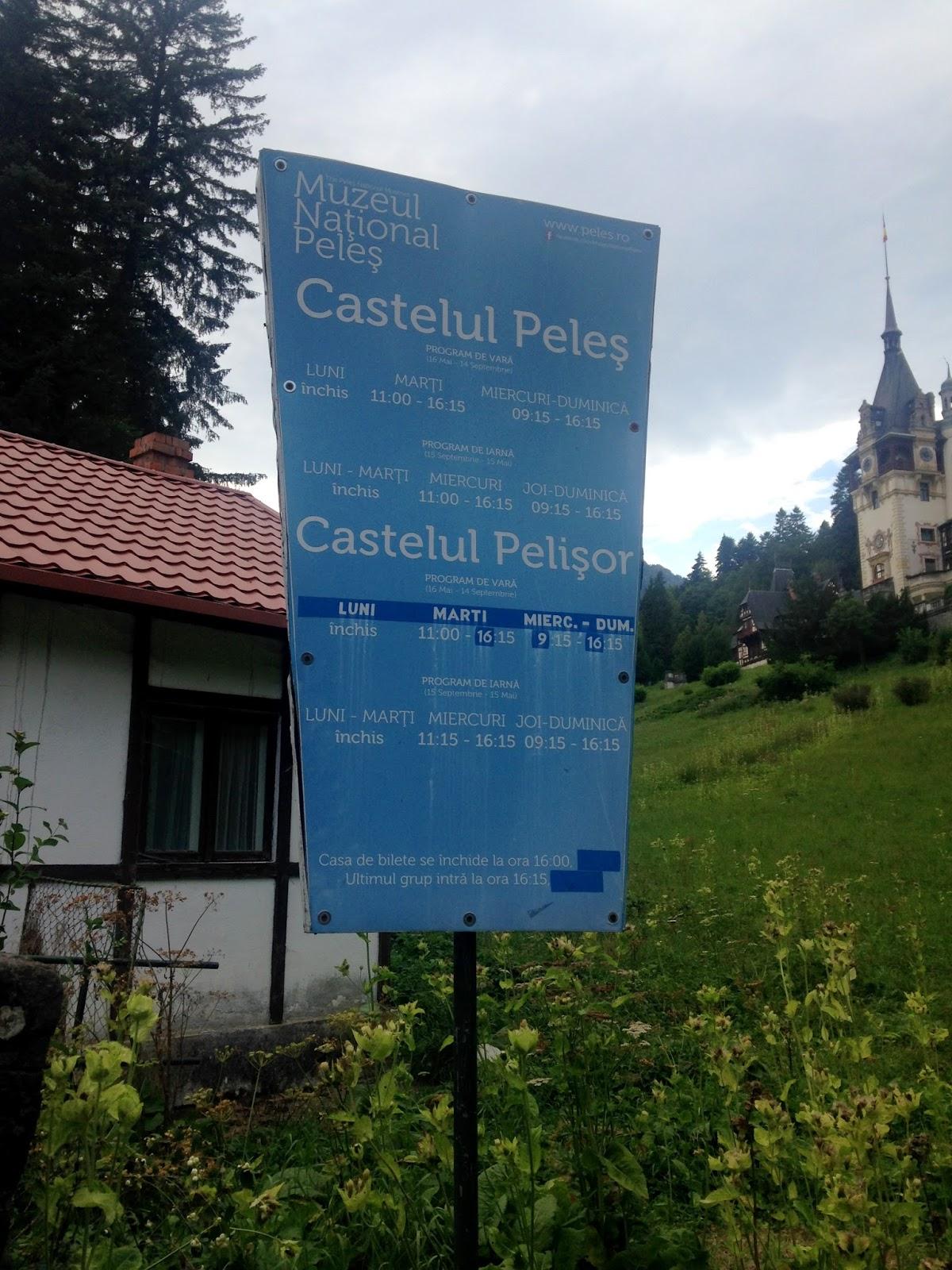 Godziny otwarcia pałac Peles