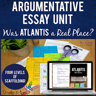 Your middle school students will learn how to write an argumentative essay with these step-by-step video lessons with texts, organizers, notes, and more!