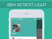 Download BBM Mod Retroit Light V3.2.5.12 Apk Terbaru