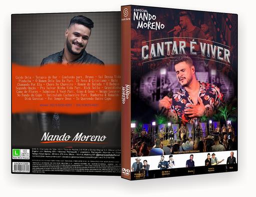 CAPA DVD – SPECIAL NANDO MORENO CANTAR E VIVER 2018 – ISO