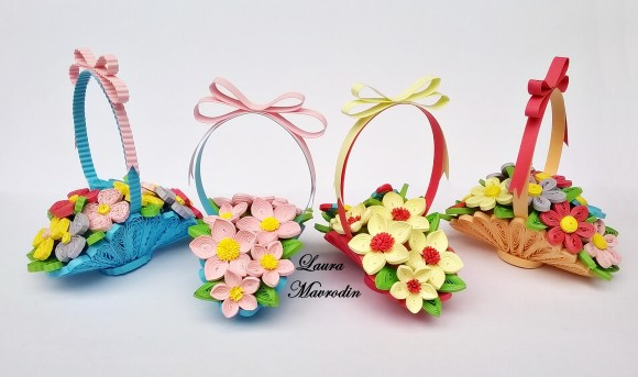 How to make basket of flowers crazzy craft put your card on a pad cork and of cover with foil then it will sklejcie together elements about 22 the second one in the middle of a larger circle mightylinksfo