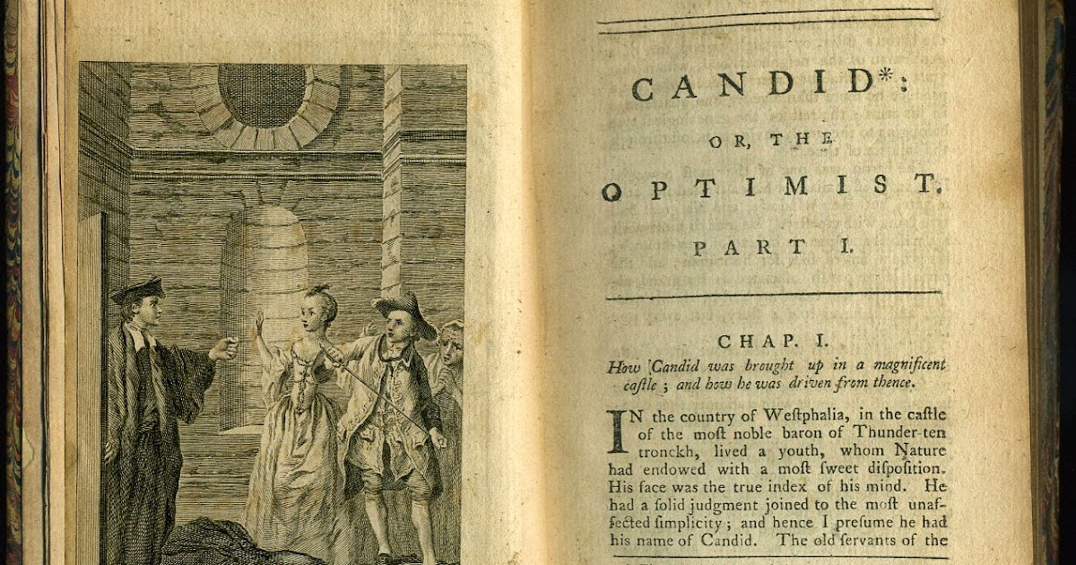 What is a good thesis statement for the novel Candide using 2 literary elements?