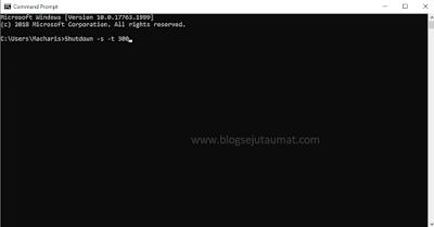 Cara Timer Auto Shutdown Windows dengan CMD 2