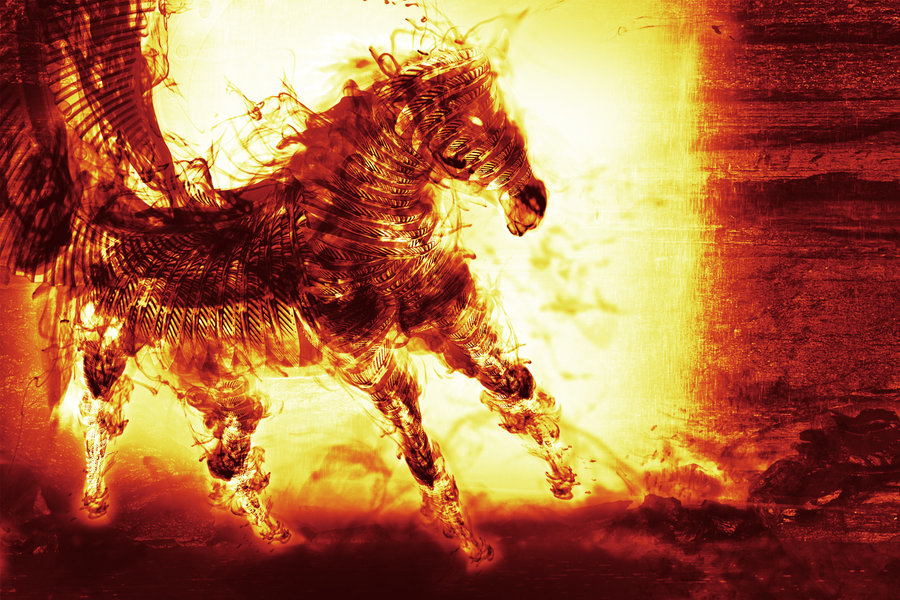 Animated Fall Wallpaper Flying Horse Wallpapers Desktop Wallpapers