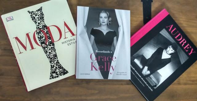 Imagen de tres libros de fotografías de moda