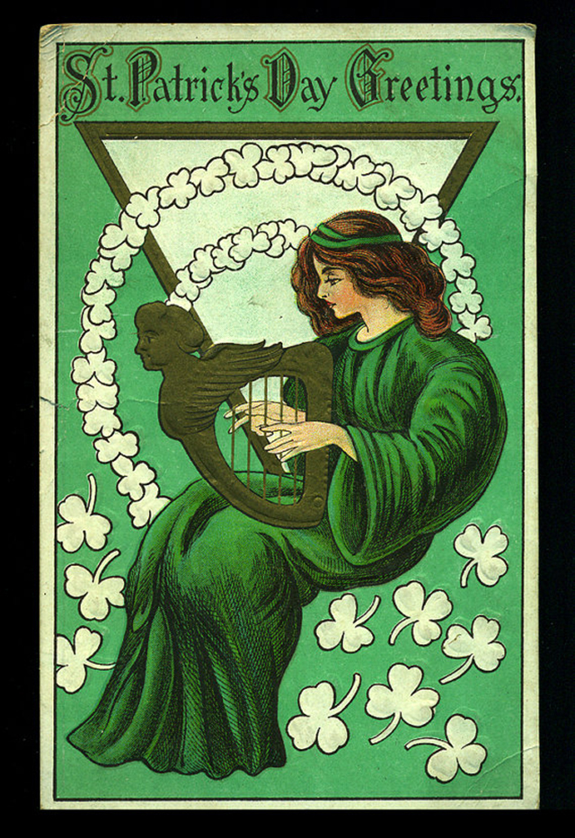 A collection of 20 vintage st patricks day cards from the odd to 3 harp magic m4hsunfo