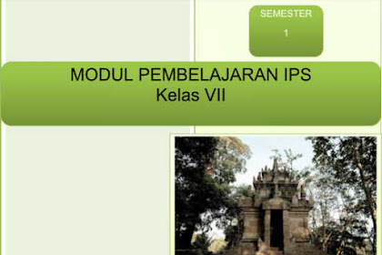 Modul IPS SMP Kelas 7 untuk Belajar di Rumah (BDR)/ PPJ